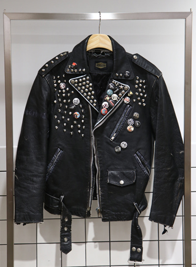 CHOPPER leather rider jacket