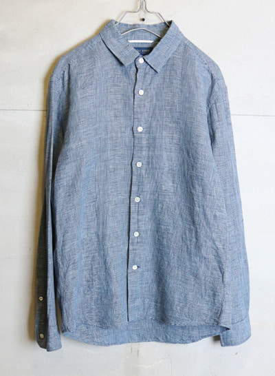 (Made in JAPAN) 417 by EDIFICE linen blend shirt
