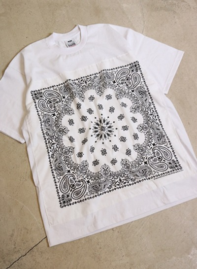 (Made in U.S.A.) PRO CLUB bandana t shirt