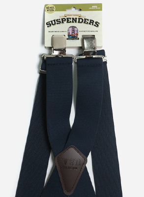 Wide Suspender / Clip / Navy